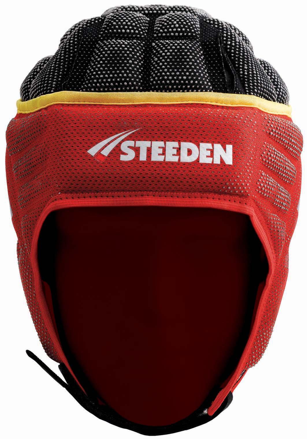 ST-RHINO MK2 HEADGEAR SNR (RED/YEL/BLK) - Steeden : SPORTS