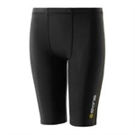 SKINS A400 YTH BLK 1/2 TIGHTS-youth-Sportspower Nowra