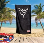 SIGNATURE BEACH TOWEL-towels-Sportspower Nowra | Online Sports Store | Fitness | Running | Football | Cricket | NRL