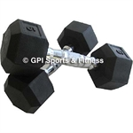 RUBBER HEX DUMB BELL-weights-Sportspower Nowra | Online Sports Store | Fitness | Running | Football | Cricket | NRL