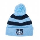 SOO STRIPE POMPOM BEANIE-apparel-Sportspower Nowra | Online Sports Store | Fitness | Running | Football | Cricket | NRL