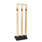 WOODEN STUMPS RUBBER BASE-cricket-Sportspower Nowra